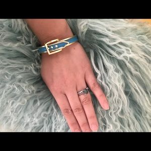 Bauble Bar Blue and gold cuff bracelet
